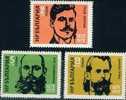 BULGARIE - 1972 - Liberateurs De La Macedonie - Gotse Delchev,Jane Sandanski, Dame Gruev - 3v** - Neufs