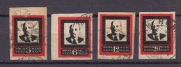 Russie URSS 1924 Yvert 266B / 269B Obliteres. Deuil De Lenine - Gebraucht