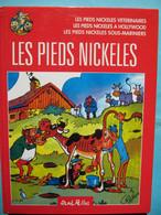 BD Les Pieds Nickelés Album : Les Pieds Nickelés Vétérinaires, ... à Hollywood, ... Sous-mariniers René Pellos Rééd 2004 - Pieds Nickelés, Les