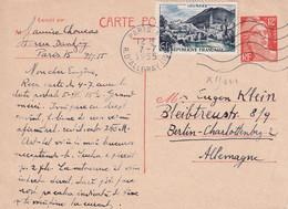 FRANCE 1955   ENTIER POSTAL/GANZSACHE/POSTAL STATIONARY CARTE DE PARIS - Cartes Postales Types Et TSC (avant 1995)