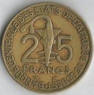 Pièce De Monnaie 25 Francs Banque Centrale Des états De L'Afrique De L'Ouest  1997 - Senegal