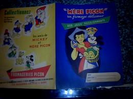Vieux Papier Protège Cahier Mére Picon Therme Personnages Walt Disney Mickey Donald Etc Les Amis De Mickey - M