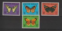 Iraq 1980 Papillons 972-975 4 Val ** MNH - Irak