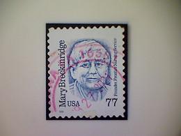 Stamp, United States, Scott #2942, Used(o), 1998, Mary Breckenridge, 77¢, Blue - Usados
