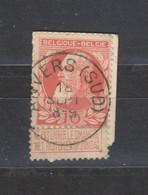 COB 74 Centraal Gestempeld Oblitération Centrale ANVERS (SUD) - 1905 Breiter Bart