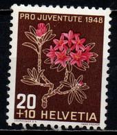SVIZZERA - 1948 - PRO JUVENTUTE - RODODENDRO - MNH - Unused Stamps