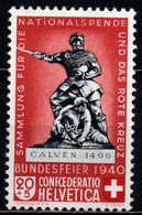 SVIZZERA - 1940 - PRO PATRIA - MONUMENTI - NUOVO TIPO - VALORE DA 20+5 - MNH - Unused Stamps