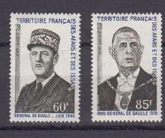 France Afars Et Issas Yvert 375 / 376 ** Neufs Sans Charniere. Annee De La Mort De De Gaulle - Nuevos