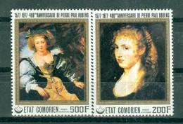 ETAT COMORIEN - P.A. N° 123** MNH Et 124** MNH SCAN DU VERSO - 400° Anniversaire De La Naissance De P.P. Rubens (I). - Comoros