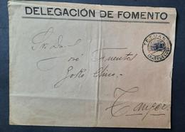 Marruecos Carta ( Sello Biselado De Telégrafos Muy Raro En Carta - Maroc Espagnol