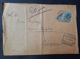 Marruecos Carta ( Sello Normal Y Uno Bisectado De Telégrafos Muy Raro En Carta - Maroc Espagnol