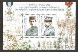 2019 - Bloc Feuillet F 5311 FRANCE - POLOGNE  NEUF** LUXE MNH - Ungebraucht