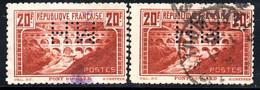 111.FRANCE.1930 PONT DU GARD 20FR.PERF.11 Y.T.262B X 2,M.H. PERFIN - Non Classés