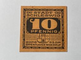 Allemagne Notgeld Schleswig 10 Pfennig - Collezioni