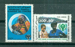 ETAT COMORIEN - P.A. N° 164** MNH Et 165** MNH SCAN DU VERSO - Année Internationale De L'enfant. - Comoros