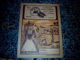 Vieux Papier Protège Cahier Cirage Cygne Noir  Therme Folklore  Bourguignon Vendange La Bourgogne - L
