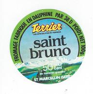 étiquette Fromage Saint Bruno 50%mg 100g Terrier Saint Marcelin Isere 38D Veyret Veillaux - Cheese