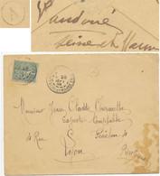 SEINE ET MARNE ENV 1905 LA CHAPELLE LA REINE T84 + BOITE RURALE A = LA VAUDOUE ( ADRESSE AU VERSO ) - 1877-1920: Semi Modern Period