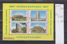 36K64 / 1987 Michel Nr. 231 - Intereuropa MNH **, Exposition Pavilion, Bucharest, Intercontinental Hotel, Romania - Blocs-feuillets