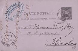 FRANCE 1883   ENTIER POSTAL/GANZSACHE/POSTAL STATIONARY CARTE DE PARIS - Cartes Postales Types Et TSC (avant 1995)