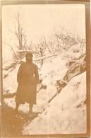 PHOTO FRANCAISE - POILU DANS LE CHEMIN CREUX A PARGNY FILAIN PRES CHAVIGNON - NONAMPTEUIL AISNE 1917 - GUERRE 1914 1918 - 1914-18