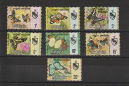 Malaysia Negeri Sembilan 1971 Papillons 80-86 7 Val ** MNH - Maleisië (1964-...)