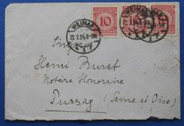 Germana Koverto En Esperanto 1924 - Lettres & Documents