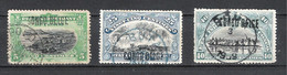 """Congo Belge Lot 3 Timbres Surcharge """"Congo Belge"""" - 1894-1923 Mols: Used"""