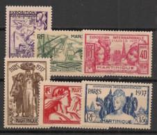 Martinique - 1937 - N°Yv. 161 à 166 - Exposition Internationale - Série Complète - Neuf * / MH VF - Neufs