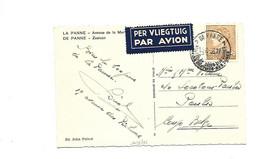 Par Avion /Airmail  DE PANNE 14.8.1936 Naar Congo Belge Poortman 3 Fr - 1936-51 Poortman