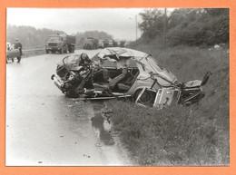 PHOTO ORIGINALE 1978 - ACCIDENT DE VOITURE SIMCA 1100 - CRASH CAR - Automobili