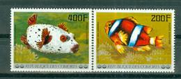ETAT COMORIEN - P.A. N° 128** MNH Et 129** MNH SCAN DU VERSO - Poissons De L'archipel Des Comores. Sujets Divers. - Comoros