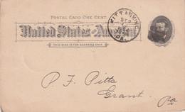 USA 1892   ENTIER POSTAL/GANZSACHE/POSTAL STATIONARY CARTE - ...-1900