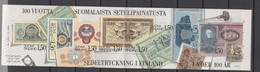 Finland 1985 Michel 960-967 100th Anniversary Of Finish Bank Note Printer's Stamp Booklet MNH - Nuevos