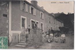 CPA   Beines (89)  L'ancien Bureau De Tabac Pradère Devenu Maison Delpeuch 8 Adultes 6 Enfants !   Ed Delpeuch RARE - Other Municipalities