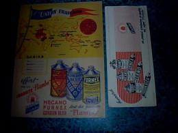 Vieux Papier Protège Cahier Produits Flambo, Furnex ,Mècano Thème Géographie L'union Française - F