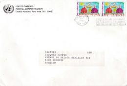 Cover United Nations Postal Administration New York To Belgium - Cartas