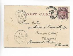 MADANAPALLE Inde Cachet à Date Sur One Anna 1900 + Cachet SEA. POST OFFICE   ....G - Autres