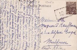 23063# FEMME FACCHI CARTE POSTALE L'ATLANTIQUE Obl PAQUEBOT Pour MULHOUSE HAUT RHIN ALSACE - 1921-1960: Moderne