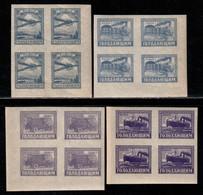 Russia 1922 Mi# 191-194 ** MNH - Set In Blocks Of 4 - Famine Relief / Transport - Ungebraucht