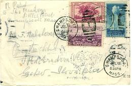 USA 1935 Cover From SWAMPSCOTT Mass. To Prague, Czechoslovakia - Briefe U. Dokumente