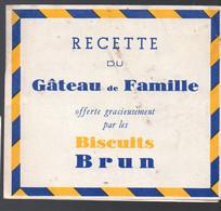 Livret Dépliant De Recettes Offert Par BISCUITS BRUN (PPP27276) - Reclame