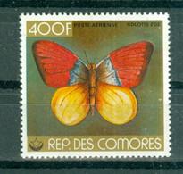 REPUBLIQUE DES  COMORES - P.A. N° 144** MNH  SCAN DU VERSO - Papillon. Colotis Zoe. - Comoros