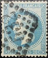 N°29B. Napoléon 20c Bleu. Oblitéré Losange G.C. N°532 Bordeaux - 1863-1870 Napoléon III Lauré