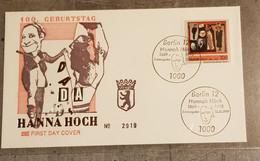 GERMANY BERLIN FDC HANNA HOCH - FDC: Enveloppes