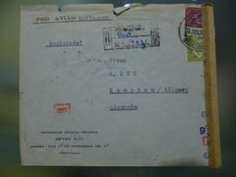 TIPO LUSIADAS - CORREIO AÉREO - CENSURAS - Briefe U. Dokumente