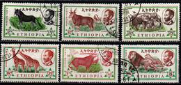 ETIOPIA - 1961 - African Wild Ass, Eland, Elephant, Giraffe, Beisa, Lion - USATI - Äthiopien