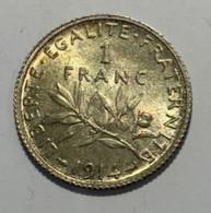 1F Semeuse 1914 5g - TTB/sup - H. 1 Franco