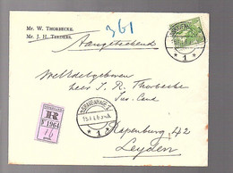 R-20 Cts Willem Thorbecke (1873-1914)(zoon Van') Naar J.R. Thorbecke Rapenburg Leiden (FD-41) - Covers & Documents