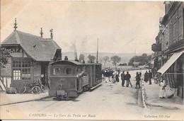 14 - CABOURG - La Gare Du Train Sur Route - Cabourg